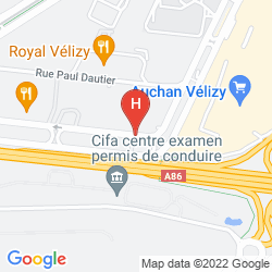 Map MERCURE PARIS VELIZY