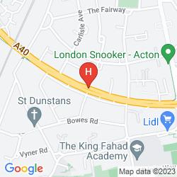 Map TRAVELODGE LONDON PARK ROYAL