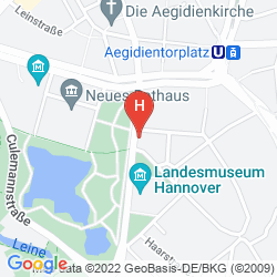 Map MERCURE HANNOVER CITY