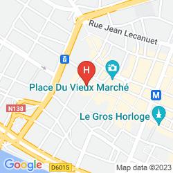 Map BEST WESTERN HÔTEL LITTÉRAIRE GUSTAVE FLAUBERT