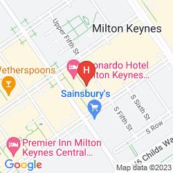 Map THE HUB SERVICED APARTMENTS – SHORTSTAY MK