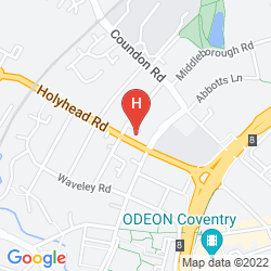 Map DAYS HOTEL COVENTRY