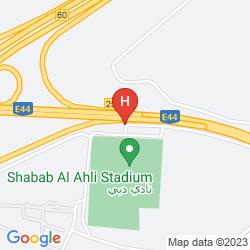 Map THE APARTMENTS DUBAI WORLD TRADE CENTRE