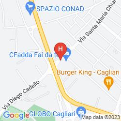 Map MEDITUR HOTEL CAGLIARI SANTA MARIA