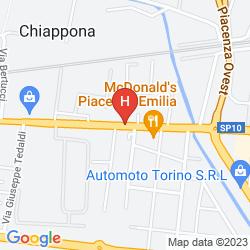 Map IDEA HOTEL PIACENZA