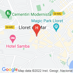 Map GRAN HOTEL DON JUAN