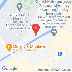 Map PIO BED & BREAKFAST ON KANAL GRIBOEDOVA
