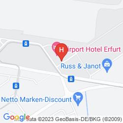 Map MERCURE HOTEL ERFURT ALTSTADT