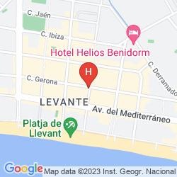 Map MAGIC VILLA DE BENIDORM