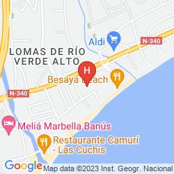 Map IBEROSTAR MARBELLA CORAL BEACH