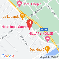 Map ISOLA SACRA ROME AIRPORT