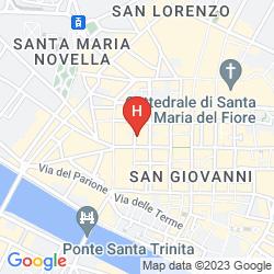 Map HELVETIA&BRISTOL FIRENZE - STARHOTELS COLLEZIONE