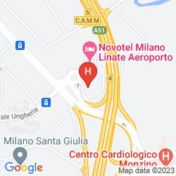 Map NOVOTEL MILANO LINATE AEROPORTO