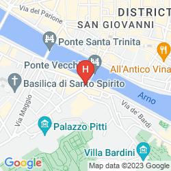 Map PITTI PALACE AL PONTE VECCHIO