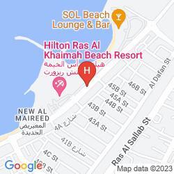 Map HILTON RAS AL KHAIMAH RESORT & SPA