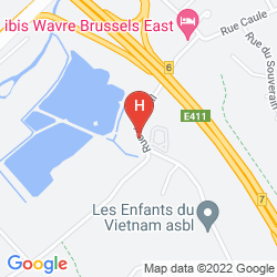 Map IBIS WAVRE BRUSSELS EAST