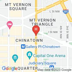 Map HAMPTON INN WASHINGTON-DOWNTOWN-CONVENTION CENTER