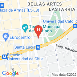 Map MERCURE SANTIAGO CENTRO