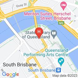 Map RIVERSIDE HOTEL SOUTHBANK
