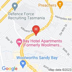 Map B.W BLUE HILLS BATTERY POINT