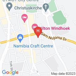 Map AVANI WINDHOEK HOTEL & CASINO