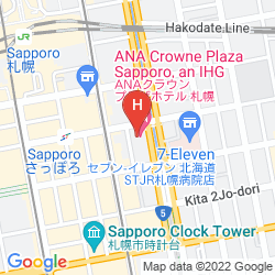 Map ANA CROWNE PLAZA SAPPORO