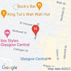 Map HOLIDAY INN GLASGOW CITY WEST