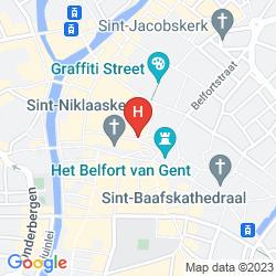 Map NOVOTEL GENT CENTRUM