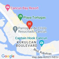 Map TORRE DORADA CANCUN