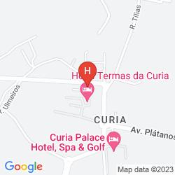 Map TERMAS DA CURIA SPA RESORT