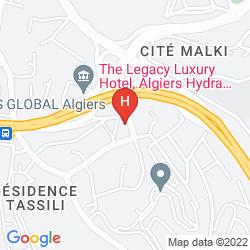 Map RADISSON BLU HOTEL ALGIERS HYDRA