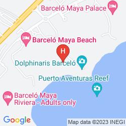 Map BARCELO MAYA CARIBE