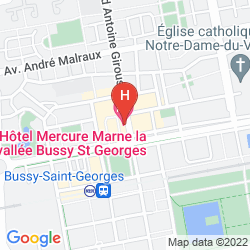 Map MERCURE MARNE LA VALLÉE BUSSY ST GEORGES