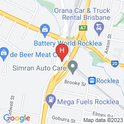 Map ROCKLEA INTERNATIONAL MOTEL