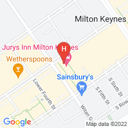 Map JURYS INN MILTON KEYNES
