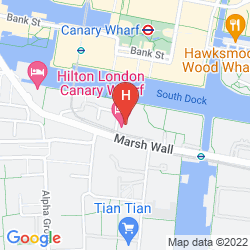 Map HILTON LONDON CANARY WHARF