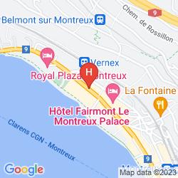 Map ROYAL PLAZA MONTREUX & SPA