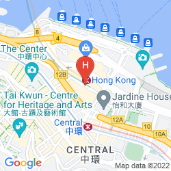 Map GRAND HYATT HONG KONG