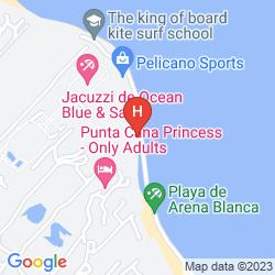 Map BAVARO PRINCESS ALL SUITES RESORT, SPA & CASINO