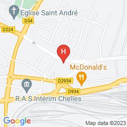 Map CAMPANILE MARNE LA VALLEE - CHELLES