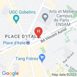 Map TIMHOTEL PARIS PLACE D'ITALIE