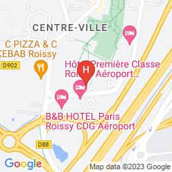 Map PENTAHOTEL PARIS CHARLES DE GAULLE AIRPORT