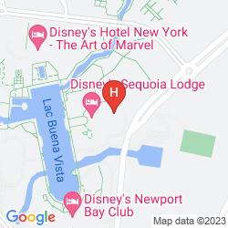 Map DISNEY'S SEQUOIA LODGE
