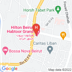 Map HILTON BEIRUT HABTOOR GRAND