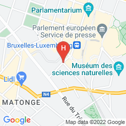 Map RADISSON RED BRUSSELS