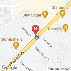 Map HILTON HOUSTON GALLERIA AREA