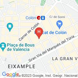Map HOSPES PALAU DE LA MAR