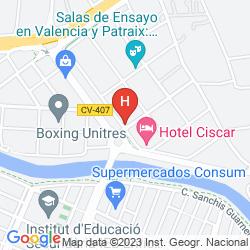 Map SERCOTEL CISCAR