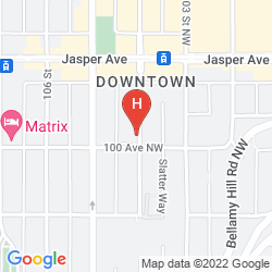 Map HOLIDAY INN EXPRESS EDMONTON DOWNTOWN (.)