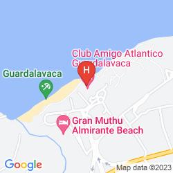 Map CUBANACAN CLUB AMIGO ATLANTICO GUARDALAVACA